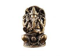 Joojun Adorno de la Estatua de Ganesha de latón Vintage India Tailandia Elefante Dios Figura Escultura Ornamento del Coche para la Mesa de la Oficina Escritorio Decoración del hogar