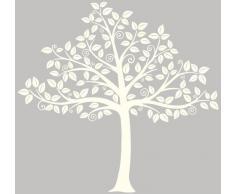 Wallpops - Pegatina decorativa para pared, diseño de silueta de árbol, color blanco