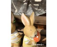 Mankvis Conejo Estatua de cerámica, Escultura Huevos de Pascua Mensajero Conejito par de Conejo Interior de la Oficina decoración de Escritorio 2 Piezas