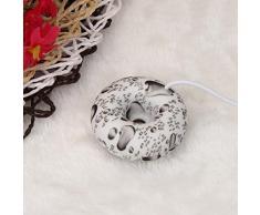Koly Inicio Mini humidificador de anillos de espuma USB flotadores en el ambientador de aire de agua (Blanco)