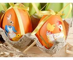 Expositor con 12 huevos de Pascua pintadas a mano – Made in Italy