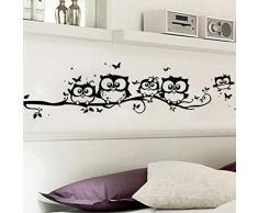 Chytaii.Creativo Decoracion Pegatinas Casa Infantil Dormitorio Mural Niño Habitacion Fotomural Dibujos Animados Búho(74×25cm)