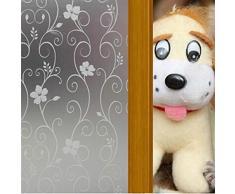 EVTECH (TM)Vinilo Adhesivo gratuito decorativo Window Film Privacidad Residencial Puerta Ventana de Cine de privacidad de Cine 45X200CM, 17,7 por 78,74 pulgadas, Apto para Comedor / Closet / Puerta / cocina / universidad / Hospital