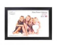 Inov8 - Marco de fotos (30 x 20 cm), color negro con línea plateada