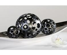 Bola decorativa Decoración bola Holes Antracita 15 cm diámetro