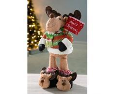 WeRChristmas 45 cm de reno de pie de árbol de Navidad, Multi-color