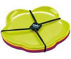 Zak Designs 2017-4550 Sweety - Juego de 4 platos de postre (14 cm), diseño de flor