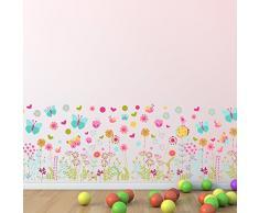 Walplus pared pegatinas mariposas y flores – extraíble adhesivo decorativo para murales nursery restaurante Cafe Hotel Edificio oficina decoración del hogar