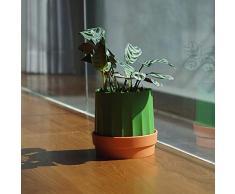 Monbedos Diseño Creativo Cactus Patrón Toalla de Papel Caja de pañuelos Plato de Flores Bandeja de siembra Multifuncional Caja