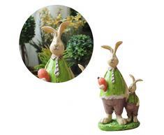 Vosarea - Figura Decorativa de Conejo de Resina para casa, Oficina, cafetería, Coche, Pascua, decoración de Boda