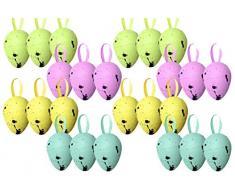 Huevos de Pascua con manchas para decoración, 24 unidades
