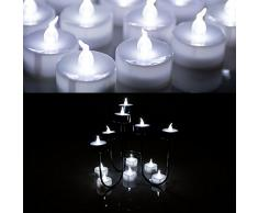 AGPTEK Lote de 60 Velas de té LED de Color Blanco frío para Bodas, Fiestas, Halloween, Navidad, Festivales, decoración