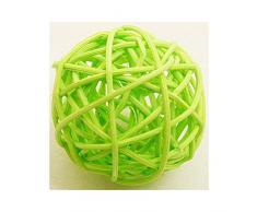Pack 6 Bolas de mimbre verde ácido (diámetro 3,5 cm) Talla única