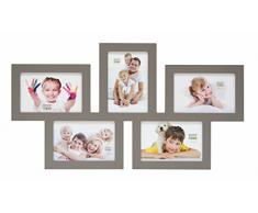 Deknudt Frames S65SY9 - Marco para 5 Fotos (Madera 10 x 15 cm) Color Gris