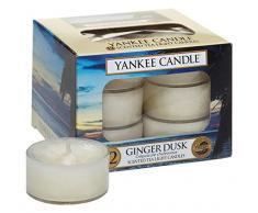 Yankee Candle Vela, Ginger Dusk, Vela Perfumada, Lamparilla, Paquete de 12 Unidades, Vela de Té, 1315098E