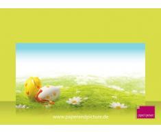 Pascua En la hierba, de 200 unidades: 100 hojas de papel diseño Juego completo, 100 sobres a juego de diseño