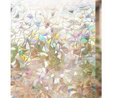 rabbitgoo 3D Vinilos para Cristales Ventanas, Translúcido Lamina Privacidad Decorativos Sin Pegamento Vinilo Adhesivo Aplicables Electristáticamente para Puertas Cocina Oficina Baño Ducha 90X200CM