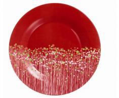 Luminarc 9202483 Flowerfield Red - Juego de 6 platos llanos (19 cm), diseño de flores, color rojo