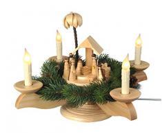Albin Preissler - para montar de Arte - de adviento en forma de candelabro, colour blanco y negro - nacimiento de Cristo