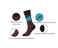 MYMYU Mujeres 5 Pares de moda de algodón Calcetines altos coloridos Diseño inteligente con elástico Cuff Huevos de Pascua Series Calcetines deportivos (Design 5)