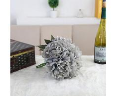 prevently marca nuevo Artificial seda Artificial flores de peonía flores boda ramo novia Hortensia Decor