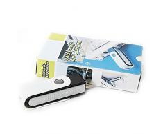 Purificador de aire - SODIAL(R)Purificador de aire del ambientador de bar del oxigeno ionica USB Ionizador para ordenador portatil Negro + blanco