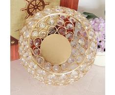 VINCIGANT candelabros Decorativos Linterna Decorativa de Cristal de la Vela de Gold para la Mesa de Cena, Decoración navideña Decoración de los Banquetes de Boda