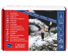 Konstsmide 2020-000 - Mini guirnalda para árbol de Navidad (80 bombillas transparentes, transformador externo de 24 V, cable verde)