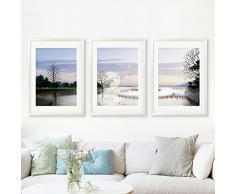 ZZZSYZXL Modernas minimalista sala de estar 3 piezas conjunto de comedor sofá del dormitorio de la pintura de la pared de fondo , 40*60*3