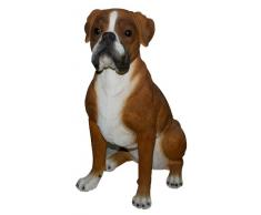 Vivid Arts Real Life - Figura decorativa de jardín (tamaño XL), diseño de perro bóxer
