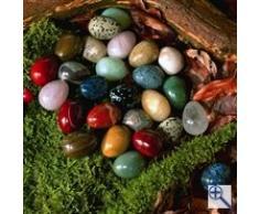 50 unidades de los huevos de Pascua (2,5 x 3 cm aprox) pequeño bolsillo grande felicidad sbringer con piedras preciosas piedras Feng Shui fr sobretodo, amor, del, felicidad - a + calidad + con piedras preciosas