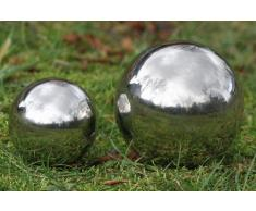 Bola decorativa, Jardín bola Galaxy en plata de acero inoxidable, diferentes tamaños