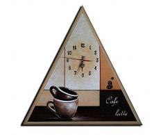 Reloj de pared Café Latte - Cuadros en Lienzo - COMPLETO pintado a mano - Lounge relojo 50x50cm M 27