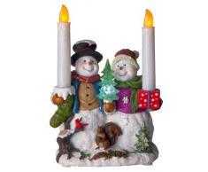 Best Season 990-73 - Figura decorativa (24 x 17 cm aproximadamente, funciona con pilas), diseño de muñeco de nieve con vela