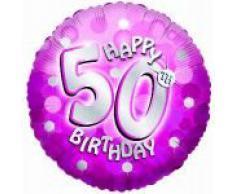 Amscan International - Juego de globos para fiestas de cumpleaños (45,7 cm, 1 unidad)