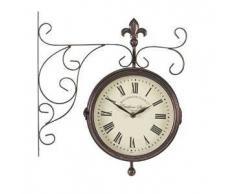 Outside-In Marylebone Station 5063010 - Reloj y termómetro para pared, doble cara, 20,32 cm