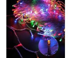 EONHUAYU Fairy String Light, 10M 80 LED Luces de Cadena con Iluminación de Trabajo en Modo 2 Baterías para Decoración de Jardín de Fiesta de árbol de Navidad (Multicolor)