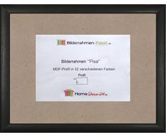 Pisa MDF marco para cuadros y pósteres 23x70 cm 70x23 cm Color selecionado: negro veteado Con vidrio acrílico antireflejo