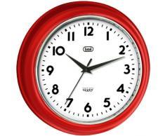 Trevi 3315 - Reloj de pared diseño retro años 60`s de 33cm - Color rojo