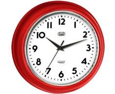 Trevi OM 3315 S Quartz wall clock Círculo Rojo - Reloj de pared (AA, Rojo, 32,3 cm)