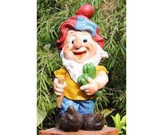 GMMH - Diseño-5 50003-5 Siete Enanos Enano, 37 cm, jardín jardín Figura enana de la decoración