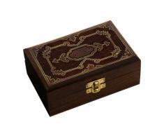 caja de recuerdo de madera caso joyería para las mujeres