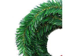 Busirde 5.5 Mide Pino del árbol de Navidad de la Guirnalda Festival Decorativo Que cuelga de la Guirnalda Ornamento Artificial del Partido Verde