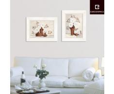 Eurographics H-M-CA4106D Vintage Style - Cuadro con marco blanco de madera (36 x 46 cm), diseño de jarrones