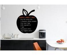 """Apple Adhesivo para pared con pizarra, diseño de – /de cocina Comedor libre tiza y esponja, Medium: 45cm x 45cm / 18"""" x 18"""""""