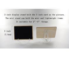12 pieza plástico Pantalla Soporte Caballete para Foto Marco Bowl Placa (3 pulgadas)
