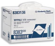 Wypall 8383 Wypall X70 - Caja de pañuelos, 31x42 cm, con 150 pañuelos, color blanco