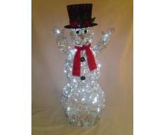 """48"""" impresionante decoración de Navidad muñeco de nieve de brillo con blanco LED luces"""