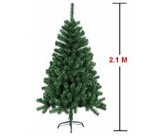 MCTECH 210 cm Árbol de Navidad con soporte - Artificial árboles Árbol de decoración de PVC verde (210 cm)