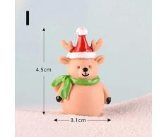 MZY1188 Figuritas de Invierno en Miniatura,Mini Figuras de Navidad Decoración del hogar-Muñeco de Nieve/Santa Claus/DIY Miniaturas de jardín de Hadas Figuras de Hadas Accesorios Resina Artesanía